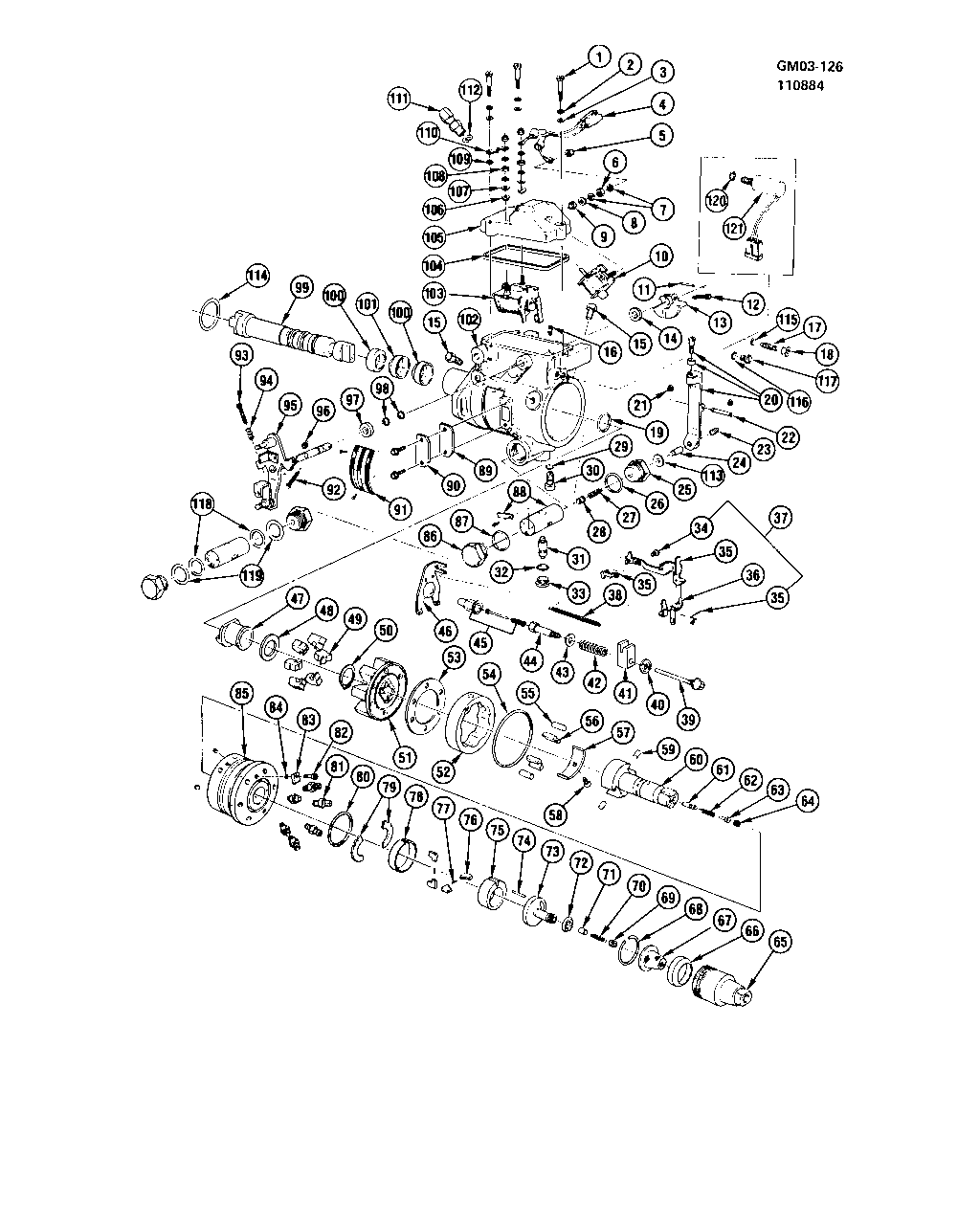 1982-1984 A INJECTION PUMP/FUEL-TYPICAL (ROOSA-MASTER