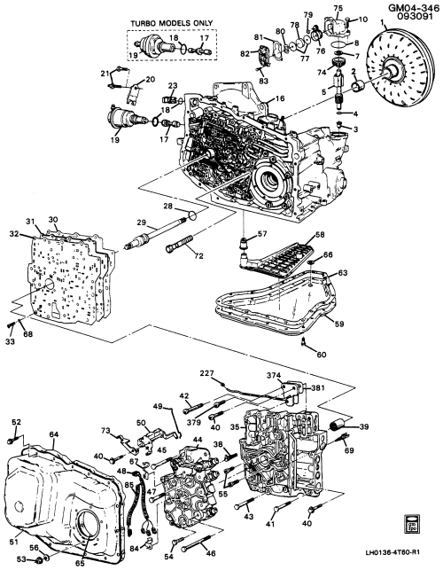 small resolution of 1990 1990 a automatic transmission me9 hm 4t60 case related parts