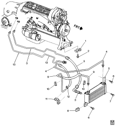 chevrolet caprice transmission diagram wiring diagram schematic 1994 1996 b automatic transmission oil cooler pipes  [ 2560 x 2899 Pixel ]