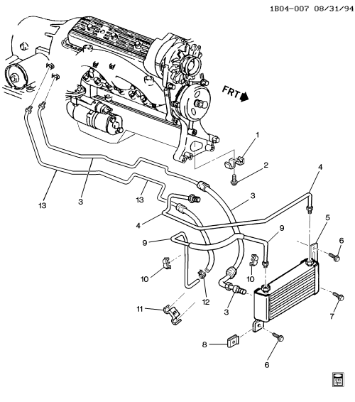 small resolution of chevrolet caprice transmission diagram wiring diagram schematic 1994 1996 b automatic transmission oil cooler pipes