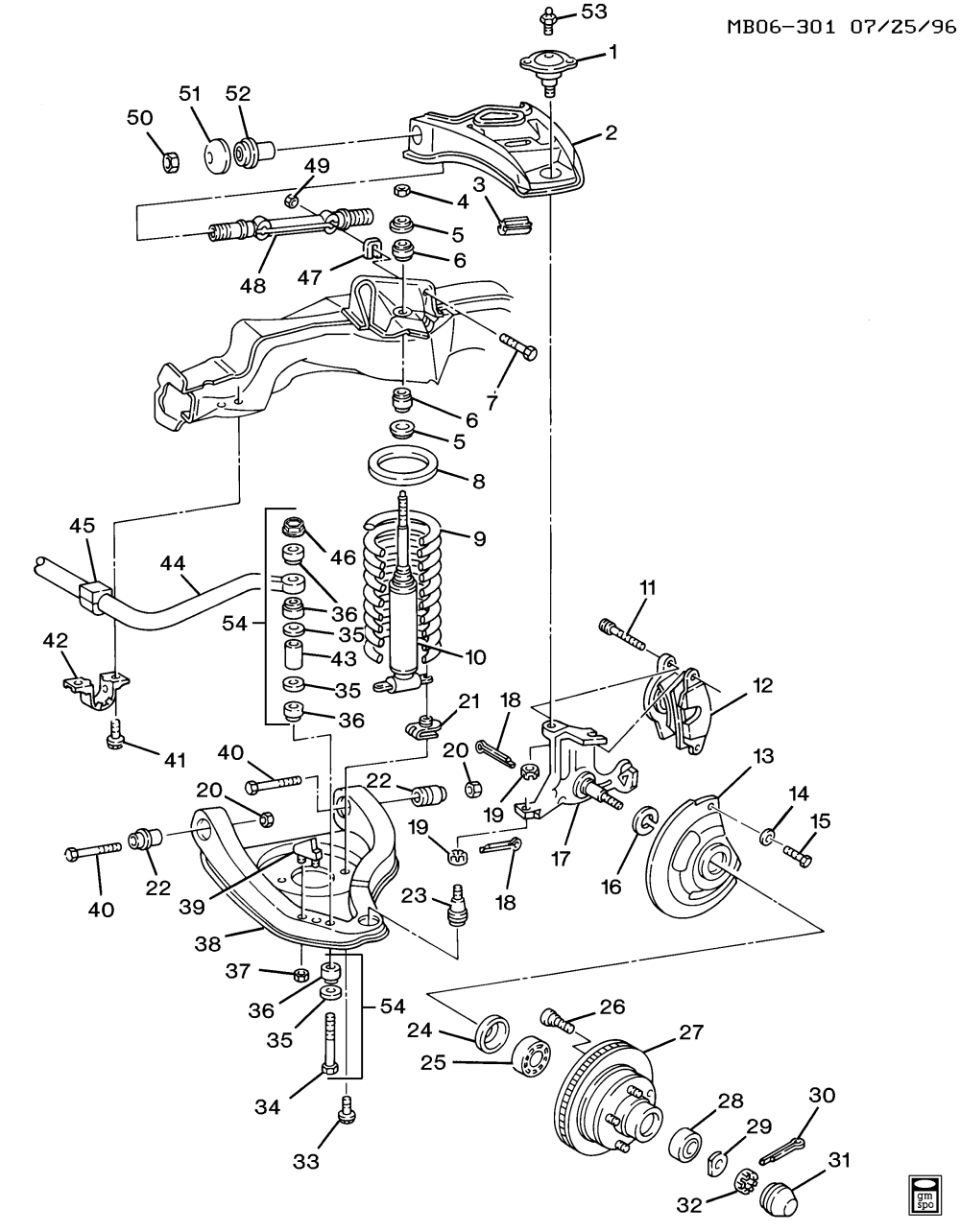 medium resolution of 1991 1996 b suspension front