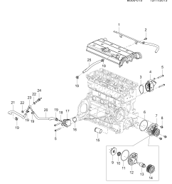 2012 2014 2l03 43 engine asm 2 4l l4 thermostat water pump [ 3000 x 3400 Pixel ]