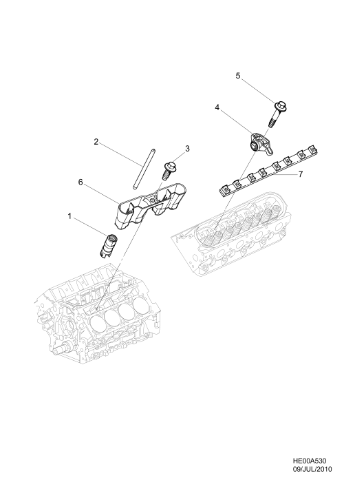 small resolution of 2010 2011 e19 69 engine asm v8 rocker arms and retainers l76