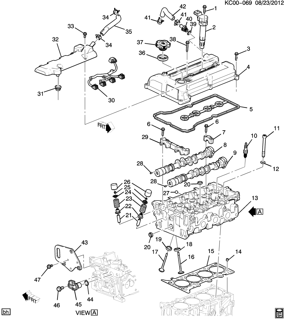 medium resolution of 2013 2015 cp cq48 engine asm 1 0l l4 part 2 cylinder head related 2015 chevy spark diagram electrical