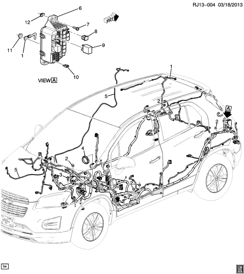 small resolution of  chevy tracker wiring diagram 2013 2017 jb jc76 wiring harness body exc all wheel drive f46