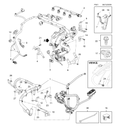 engine wiring harness a16xer lde a18xer 2h0 petrol engines  [ 2478 x 3504 Pixel ]