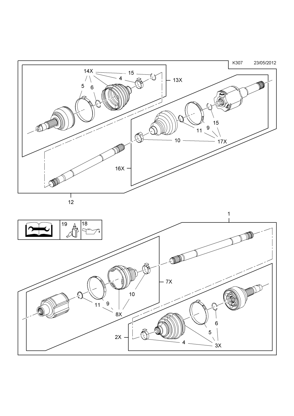 medium resolution of front axle drive shaft a18xer 2h0 petrol engine used with 6t40 automatic transmission opel mokka
