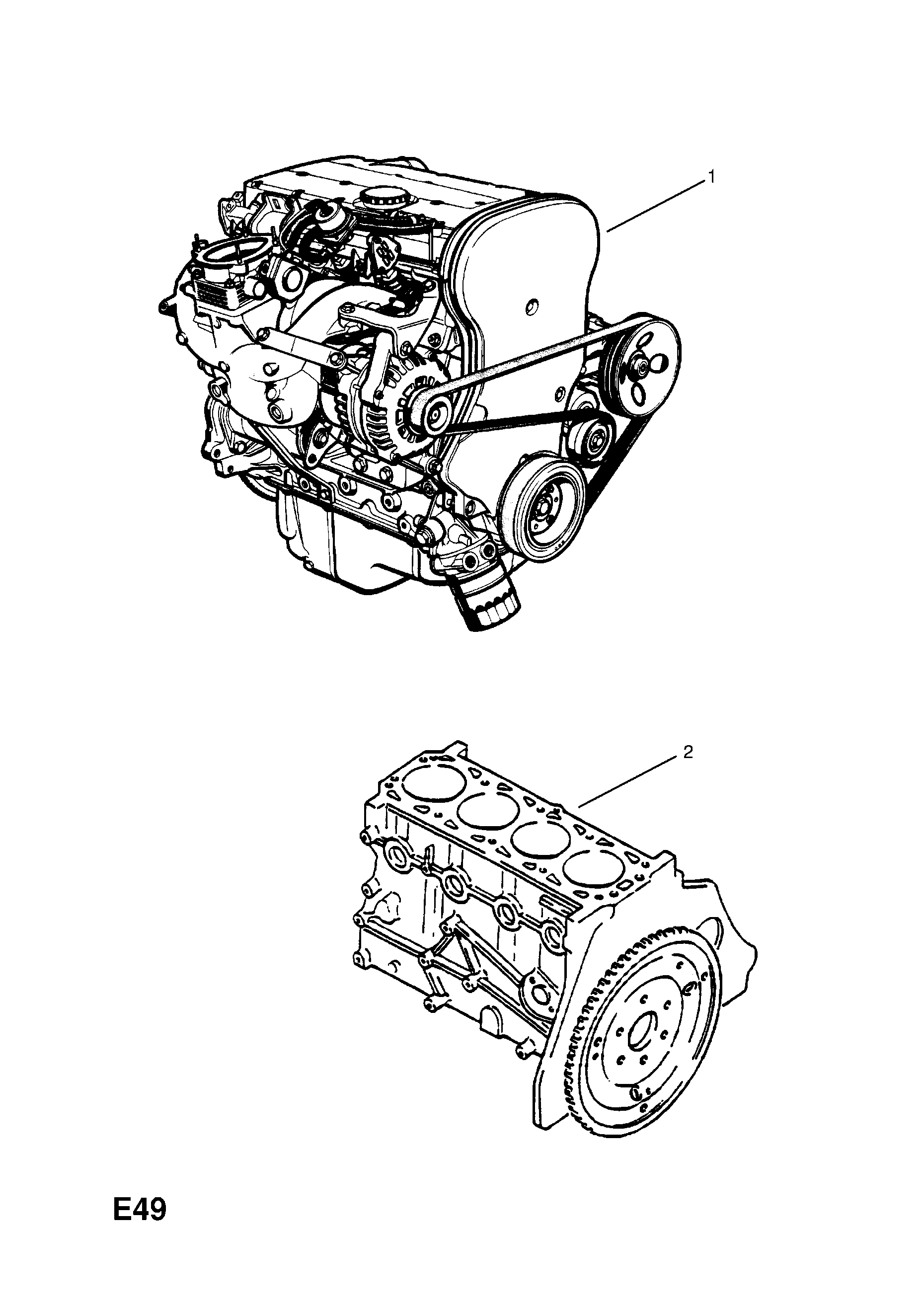 ENGINE ASSEMBLY OPEL VECTRA-B