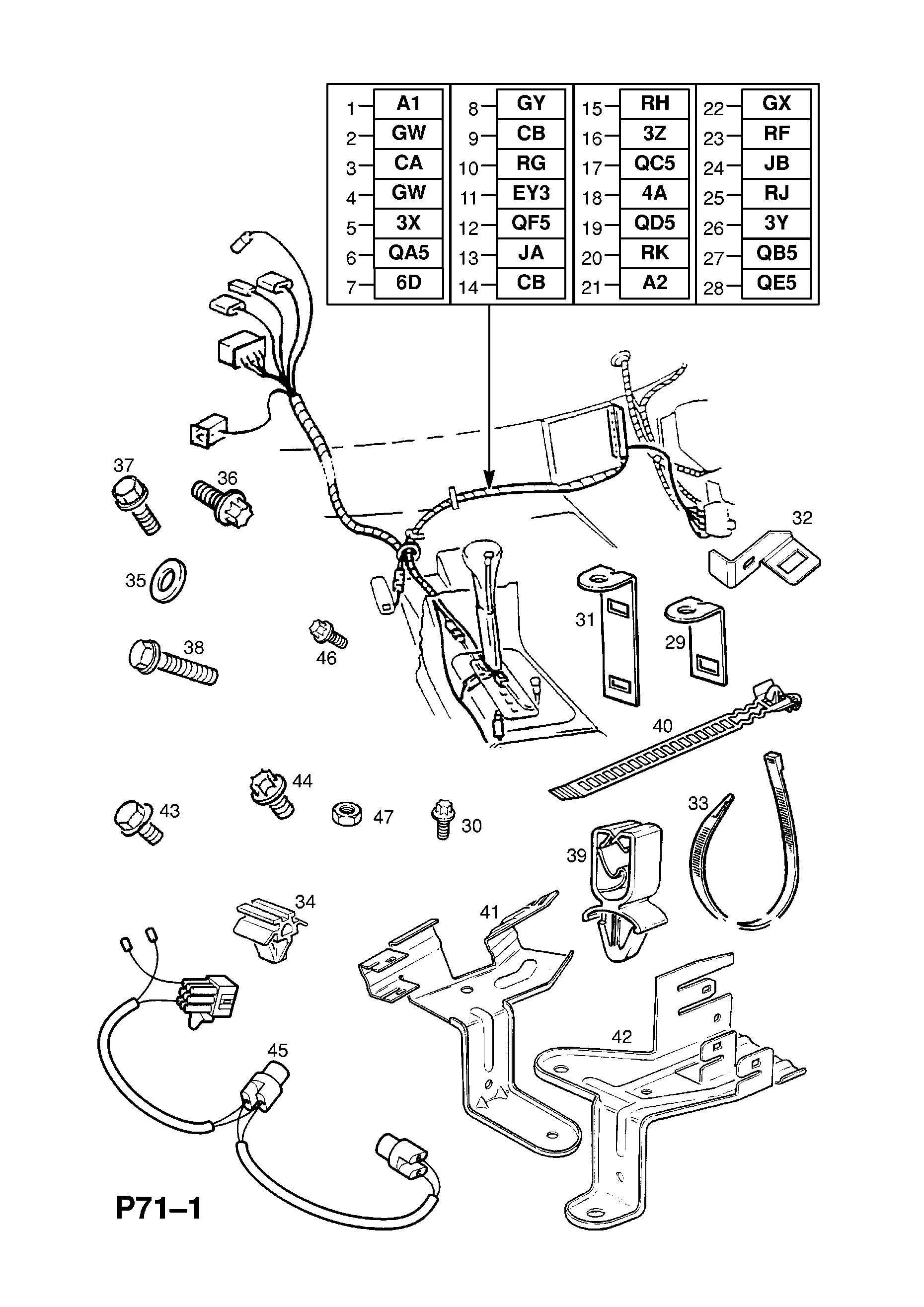 Transmission Harness Used With Automatic Transmission