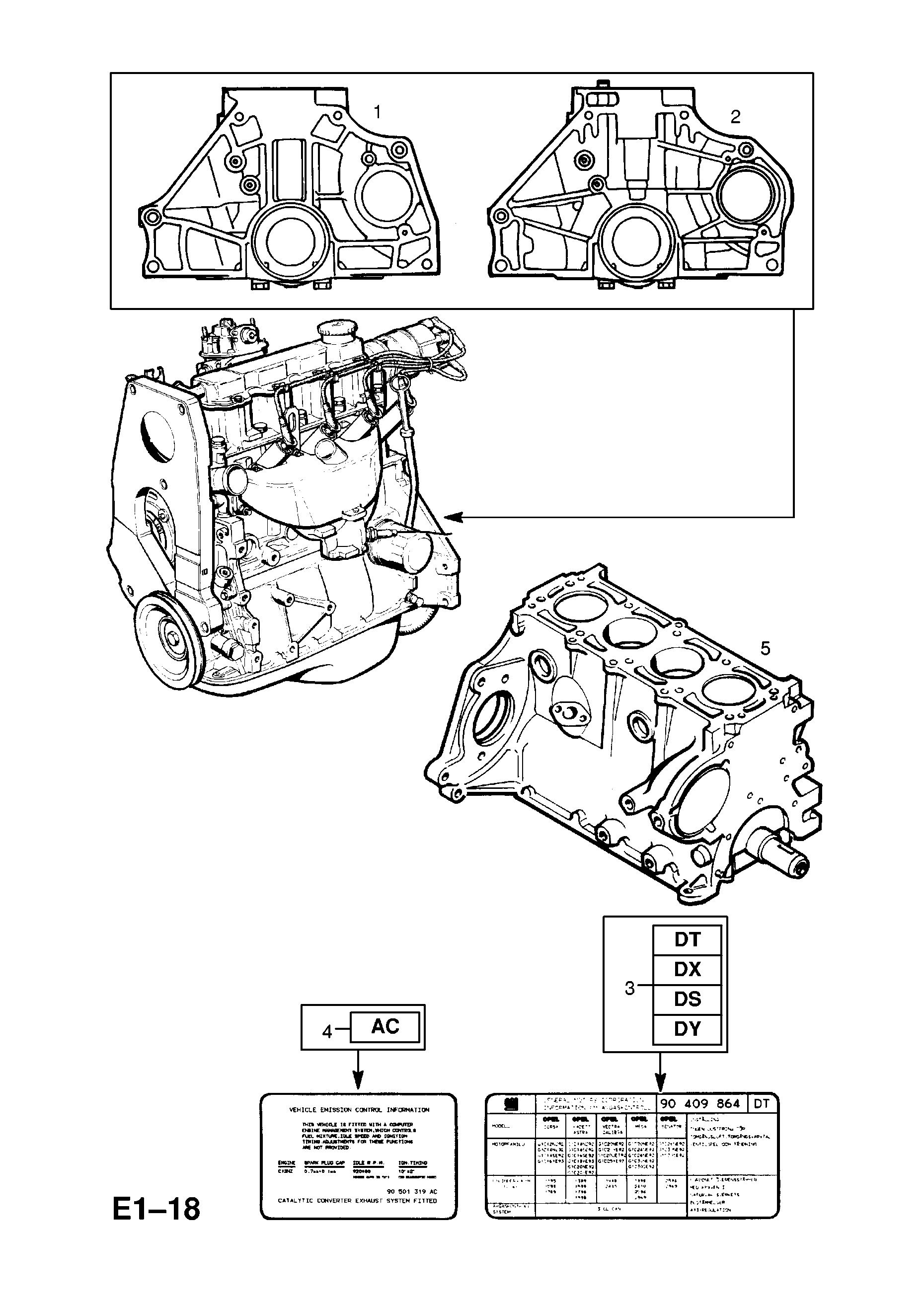 ENGINE ASSEMBLY [X12SZ[L71] WITH MANUAL TRANSMISSION] OPEL