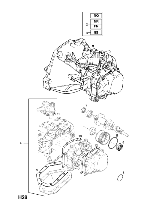 small resolution of transmission assembly exchange used with close ratio transmission except vauxhall