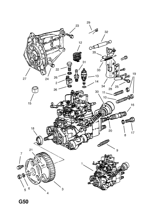 small resolution of fuel injection pump contd 17d lu7 17dr lu7 diesel engines bosch used with five speed manual transmission opel kadette e