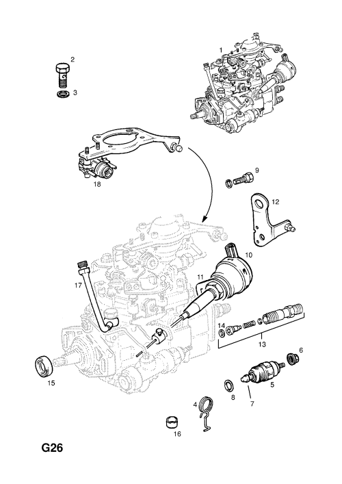 small resolution of fuel injection pump contd x17dtl 2h8 turbo diesel engine with bosch injection pump opel astra f