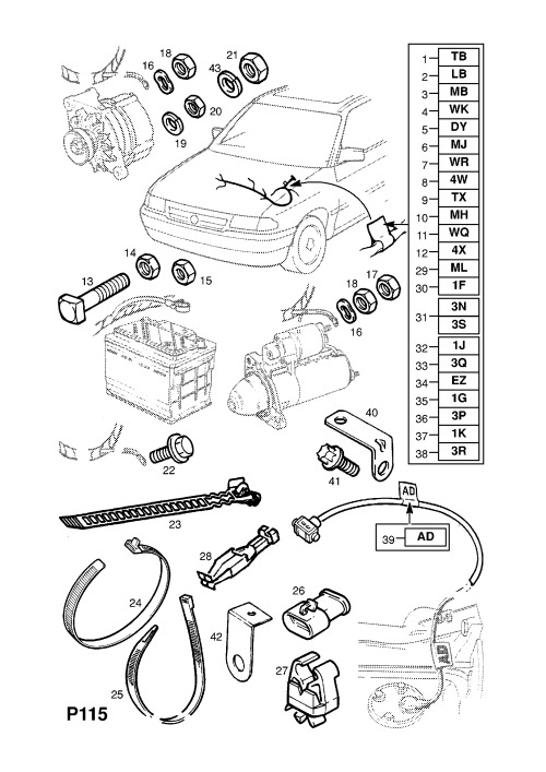 small resolution of engine wiring harness contd c20ne le4 petrol engine opel astra f wiring color coding opel c20ne wiring diagram