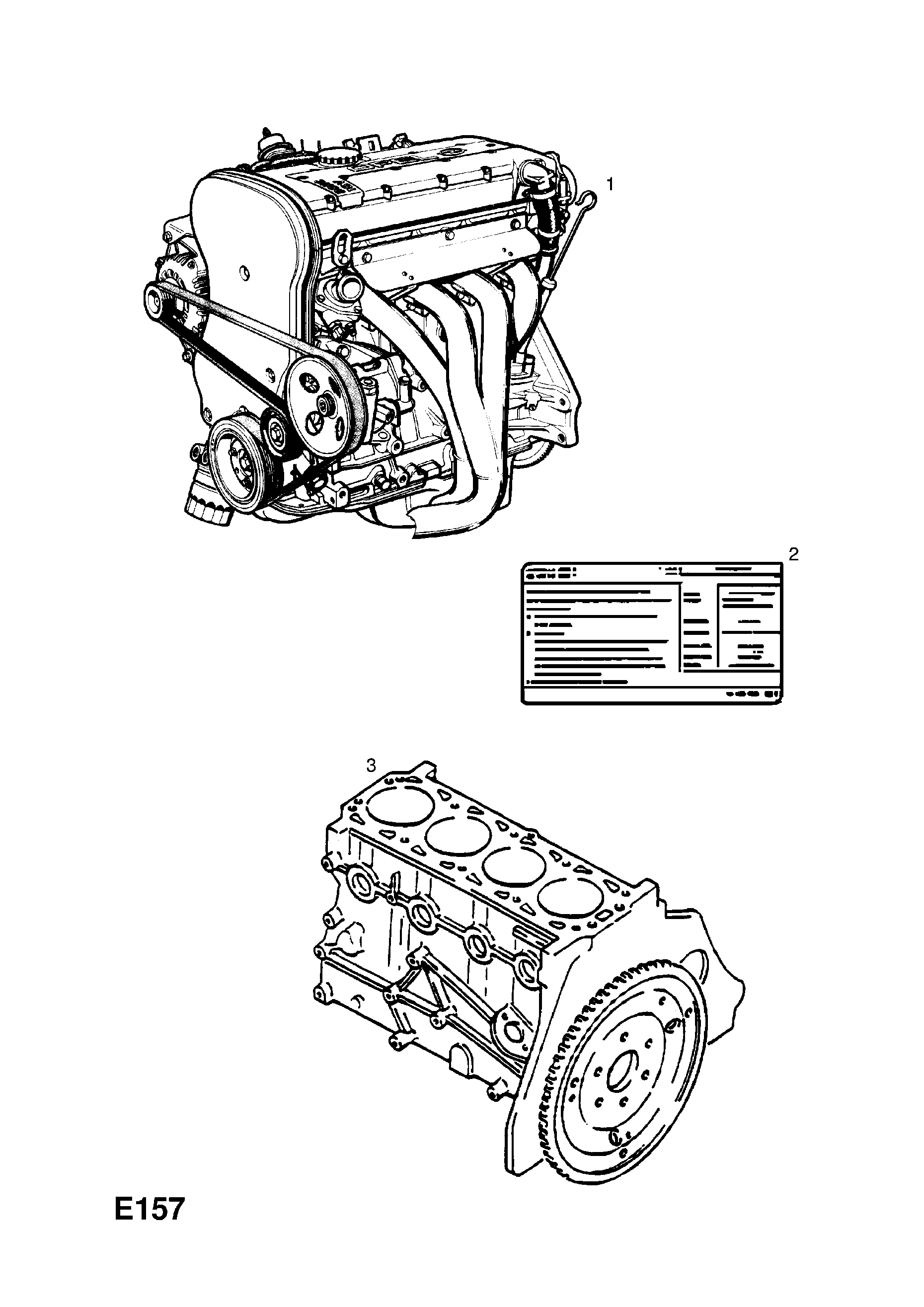 ENGINE ASSEMBLY [MANUAL TRANSMISSION] OPEL ASTRA-F