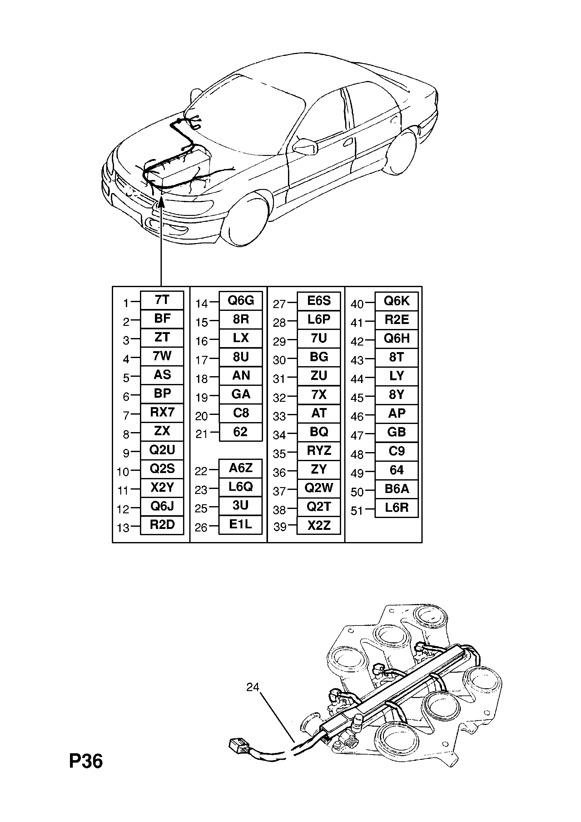 Fuel Injection Harness Used With Automatic Transmission