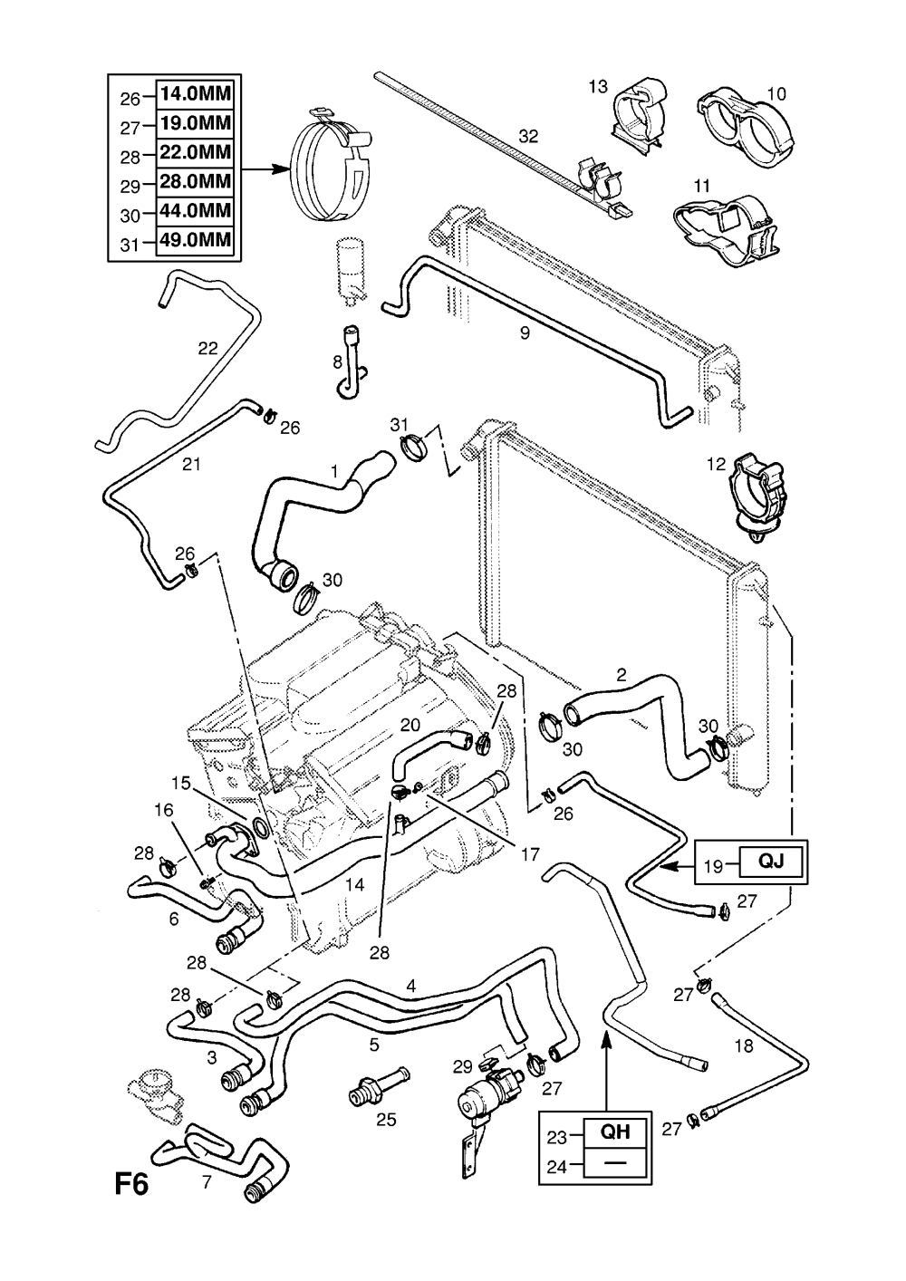 medium resolution of hoses and pipes contd x25xe l80 y26se ly9 x30xe l81 y32se la3 l81 engine diagram
