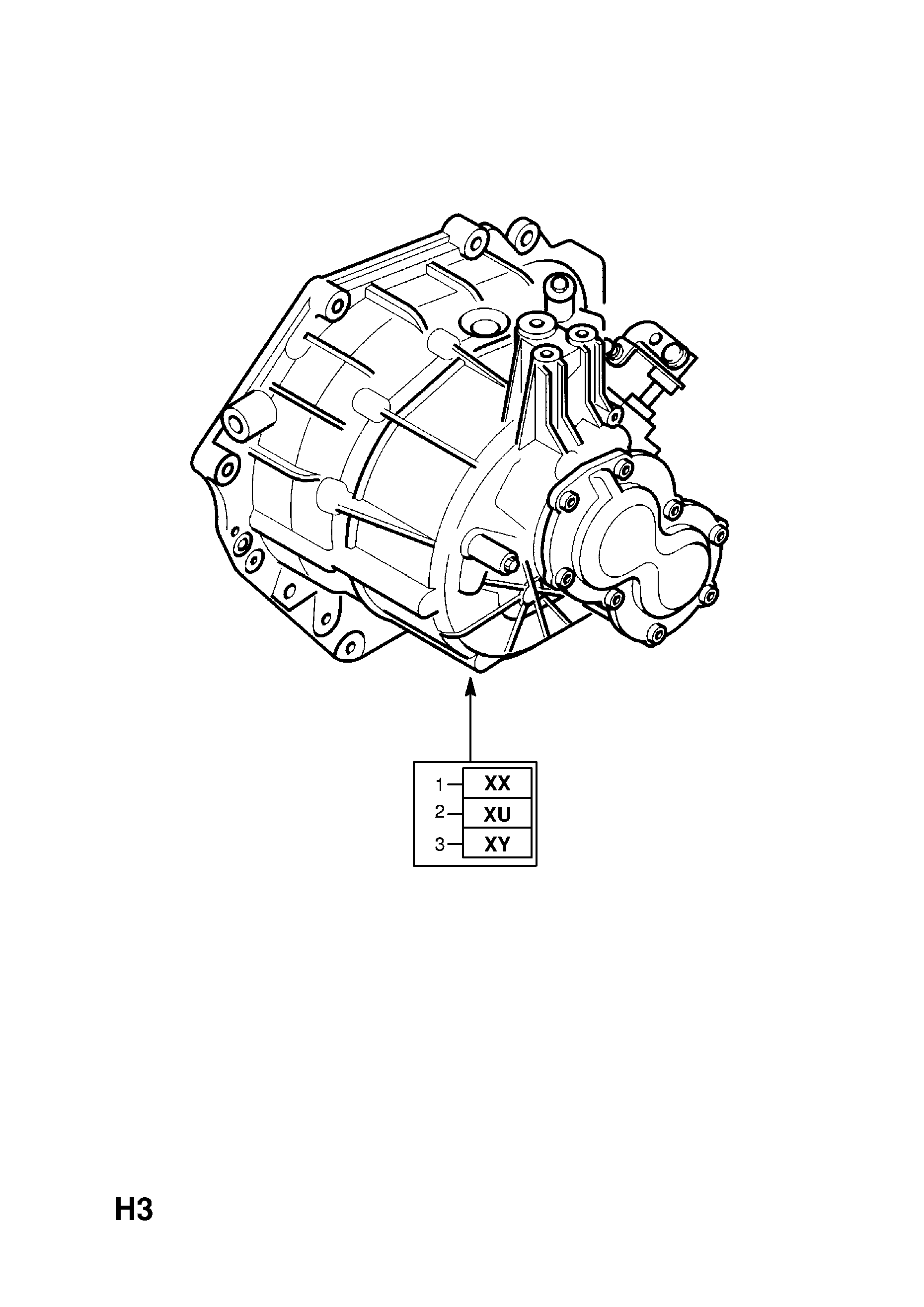 TRANSMISSION ASSEMBLY (EXCHANGE) [HATCH,SALOON (F68,F69