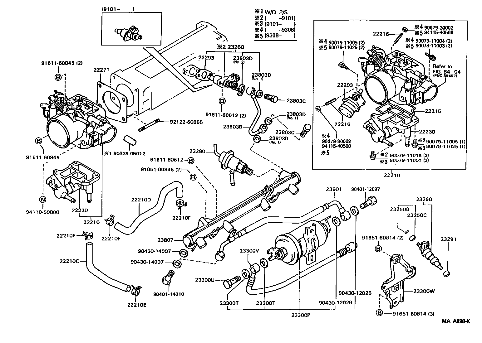 Fuel Injection System Illust No 1 Of 2 22re P