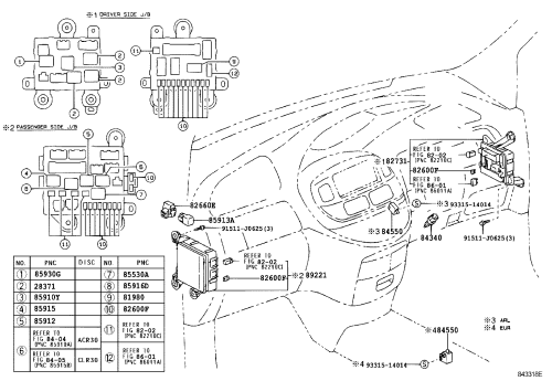 small resolution of toyota estima fuse box layout in english