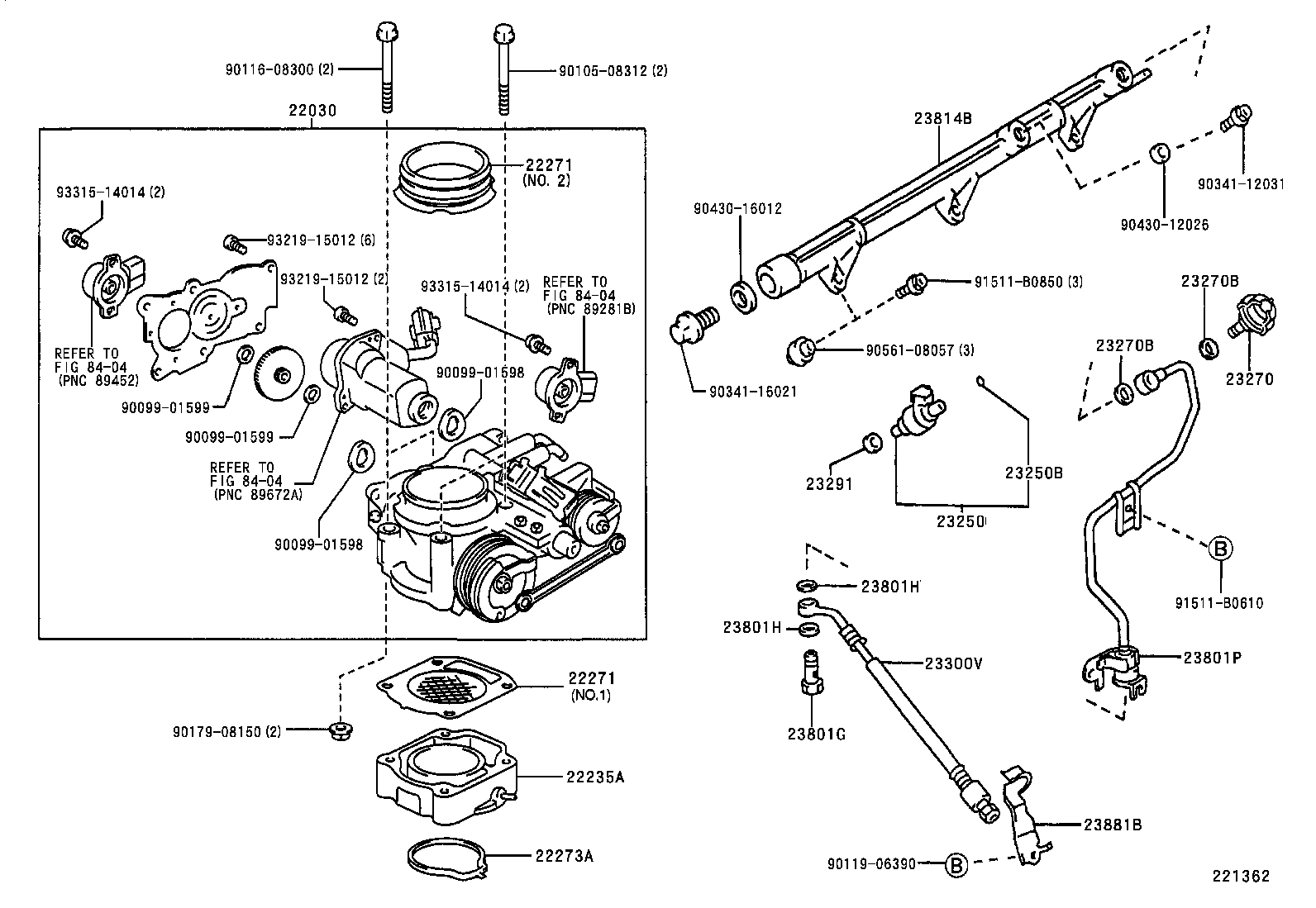 FUEL INJECTION SYSTEM[ ILLUST NO. 1 OF 2(9901- )1GFE