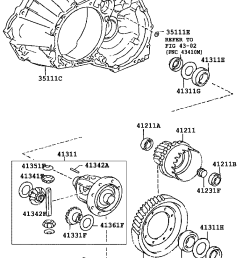 front axle housing differential toyota caldina at191 ct19 et196 st19 japan  [ 760 x 1112 Pixel ]