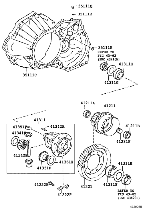 small resolution of front axle housing differential toyota caldina at191 ct19 et196 st19 japan