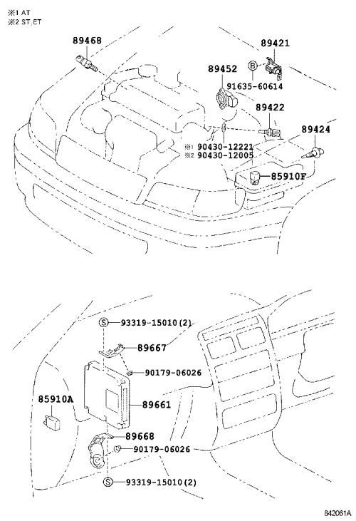 small resolution of electronic fuel injection system toyota caldina at191 ct19 et196 st19 japan