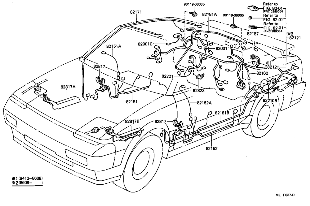 medium resolution of wiring clamp illust no 2 of 4 8412 toyota mr2 aw11 north 1991 toyota mr2 wiring diagram toyota mr2 wiring