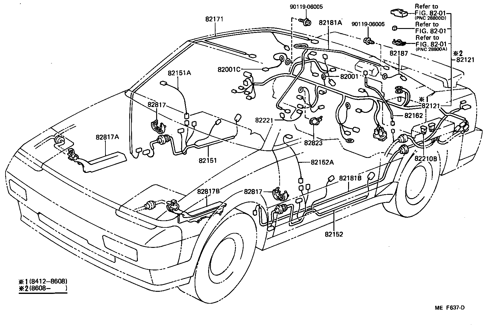 hight resolution of wiring clamp illust no 2 of 4 8412 toyota mr2 aw11 north 1991 toyota mr2 wiring diagram toyota mr2 wiring