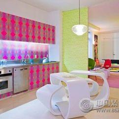 Kitchen Art Decor Granite Countertop 五彩缤纷的波普风艺术装饰让家充满生命力 厨房装修效果图 八六 中国 装饰 厨房装修图片