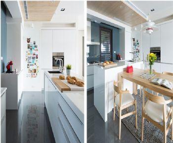 folding kitchen island narrow tables 开放式北欧厨房设计_装修效果图