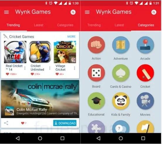 Airtel Wynk Games