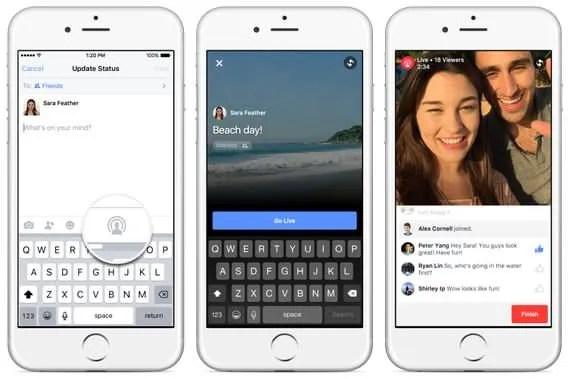 Facebook Live feature
