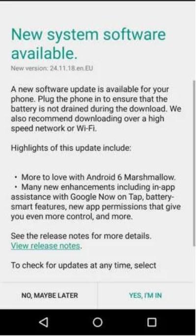 Moto X 2014 Marshmallow update india
