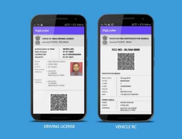 DigiLocker Driving License and Vehicle RC