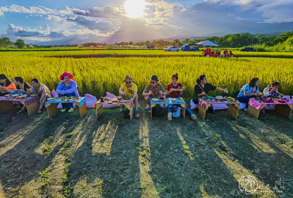 花蓮玉里稻田腳印餐桌!與大自然融合在一起在稻田中的腳印用餐吧!織羅部落餐桌上的部落旅行 - 傳說中的 ...