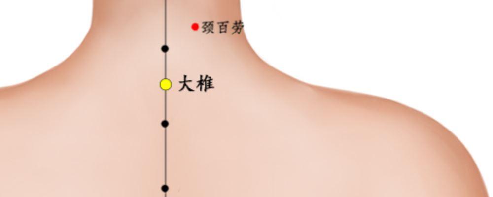 大椎穴位的準確位置圖_穴位圖_中醫_99健康網