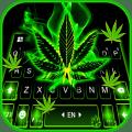 Neon Weed Smoke Keyboard Theme 1.0