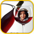 Wine glass Photo Frame Montage 1.0.7
