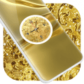 Gold Clock Live Wallpaper 1.0
