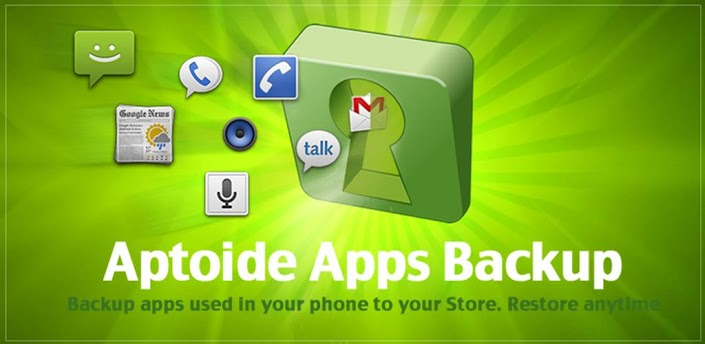 Aptoide Backup Apps android