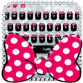 Pink Bow Silver Glitter Keyboard Theme 10001001