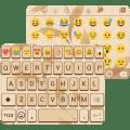 Gold Wood Emoji Keyboard Theme 1.0.7