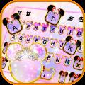 Pink Galaxy Minny Free Keyboard Theme 1.0