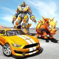 Futuristic Rhino Robot Car Transformation Game 1.2