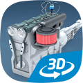 Four-stroke Otto engine educational VR 3D 1.92