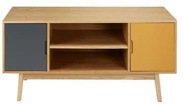 meuble tv vintage 2 portes tricolore fjord