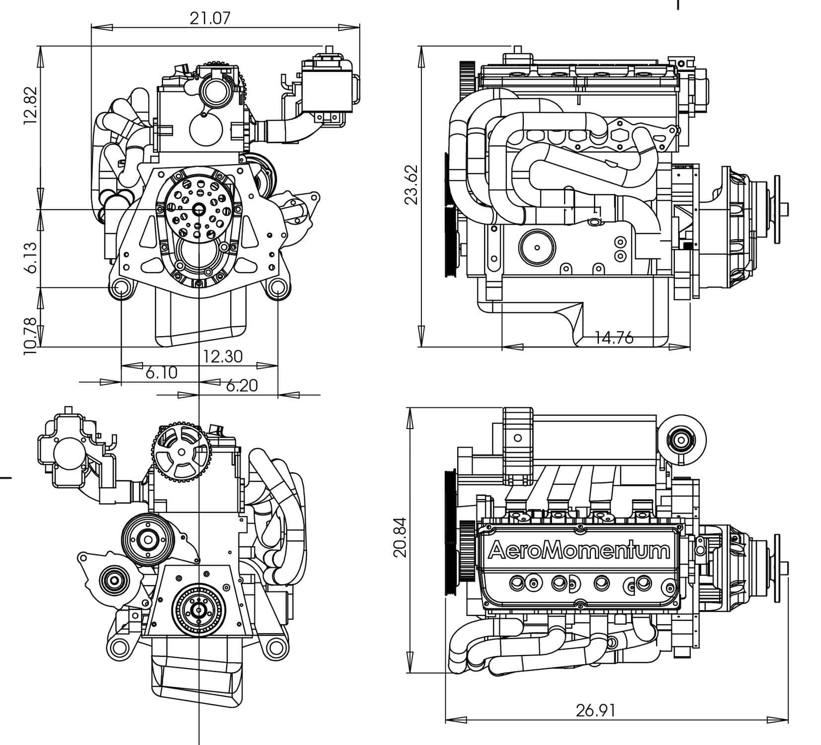hight resolution of 50 100hp piston engine 50 100kg for light aircraft 2
