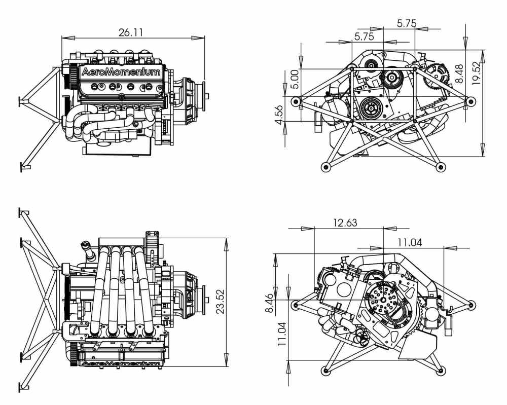 medium resolution of 50 100hp piston engine 50 100kg for light aircraft 2